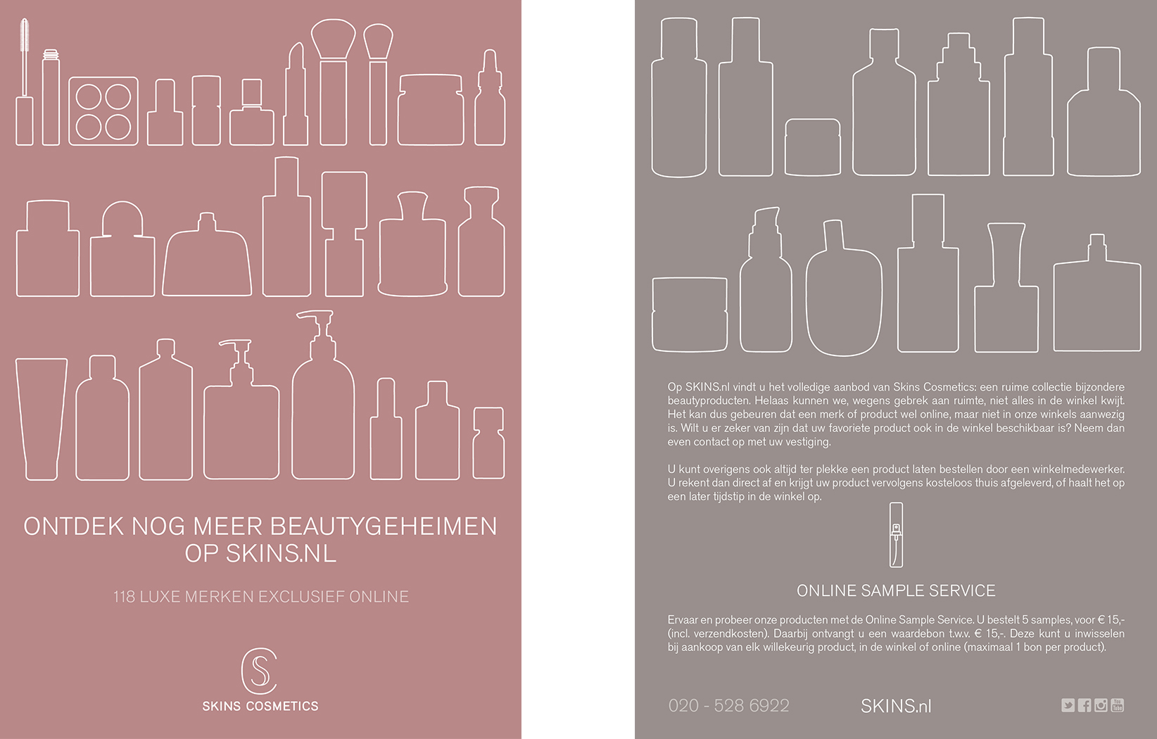 Skins Cosmetics Webshop flyer