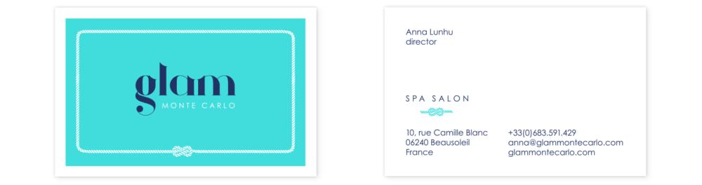 Glam Monte Carlo businesscards